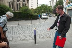 2- Potelets peint par le street artiste Le Cyclop