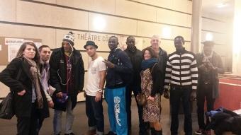 Photo de groupe avec le danseur Santiago Codon Gras